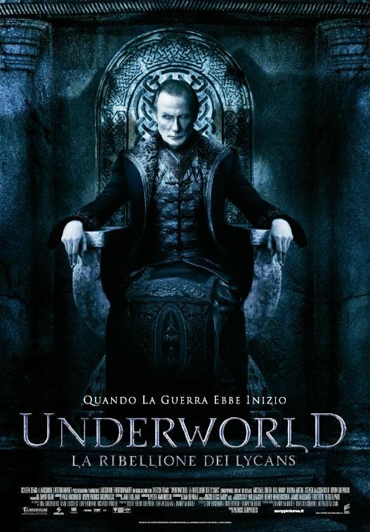 Underworld - la ribellione dei Lycans: locandina italiana