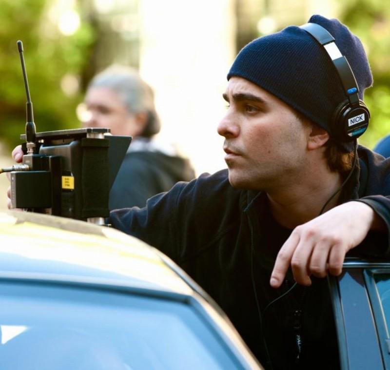 Il regista Nicholas Jarecki sul set del thriller drammatico Arbitrage