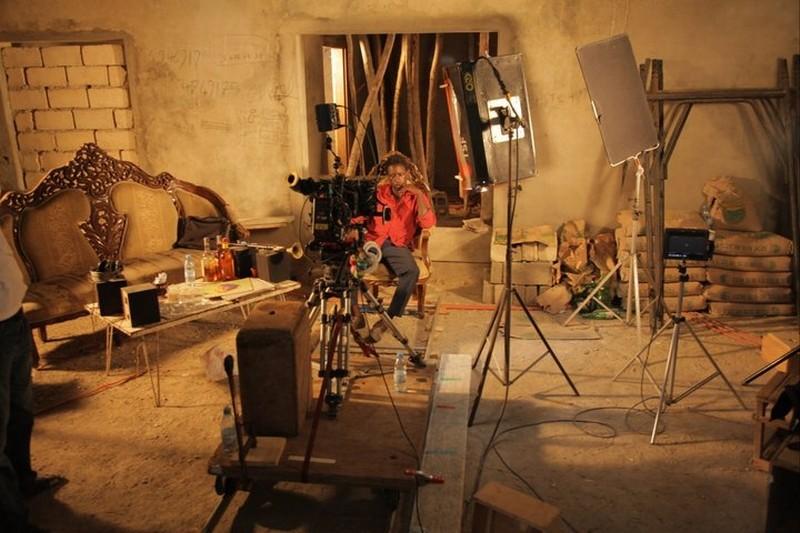 Saül Williams sul set del film Aujourd'hui di Alain Gomis