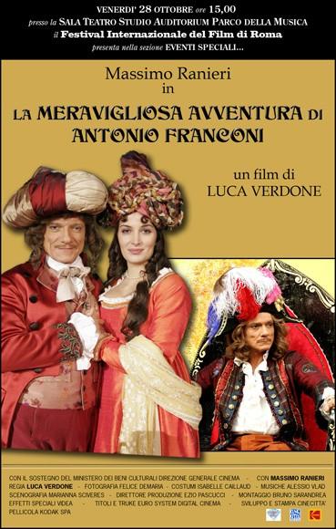 La meravigliosa avventura di Antonio Franconi: la locandina del film
