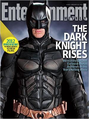 Il cavaliere oscuro sulla copertina di Entertainment Weekly