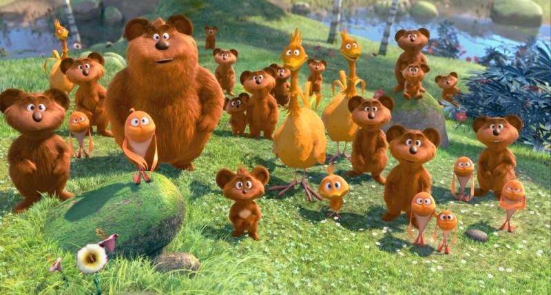 Lorax - Il guardiano della foresta, i simpatici personaggi del film in una scena di gruppo