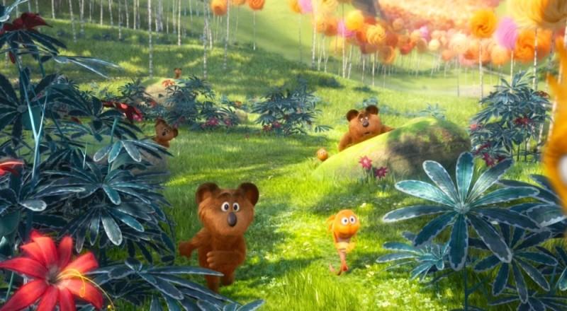Lorax - Il guardiano della foresta: una coloratissima scena del film