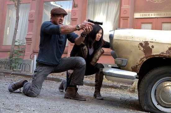Sylvester Stallone e Yu Nan in azione in The Expendables 2