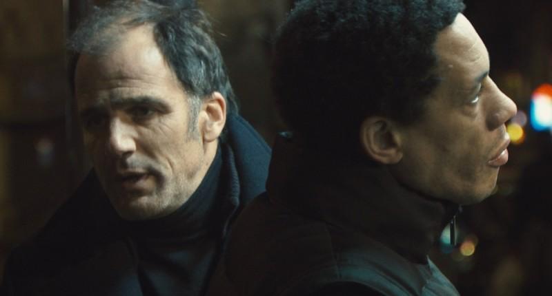 Frédéric Pierrot in una scena del film Polisse insieme a Joey Starr