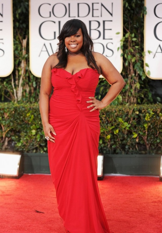 Golden Globes 2012: Amber Riley di Glee sul red carpet