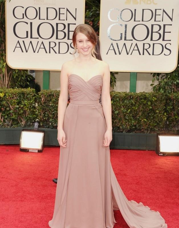 Golden Globes 2012: Taissa Farmiga di American Horror Story sul tappeto rosso