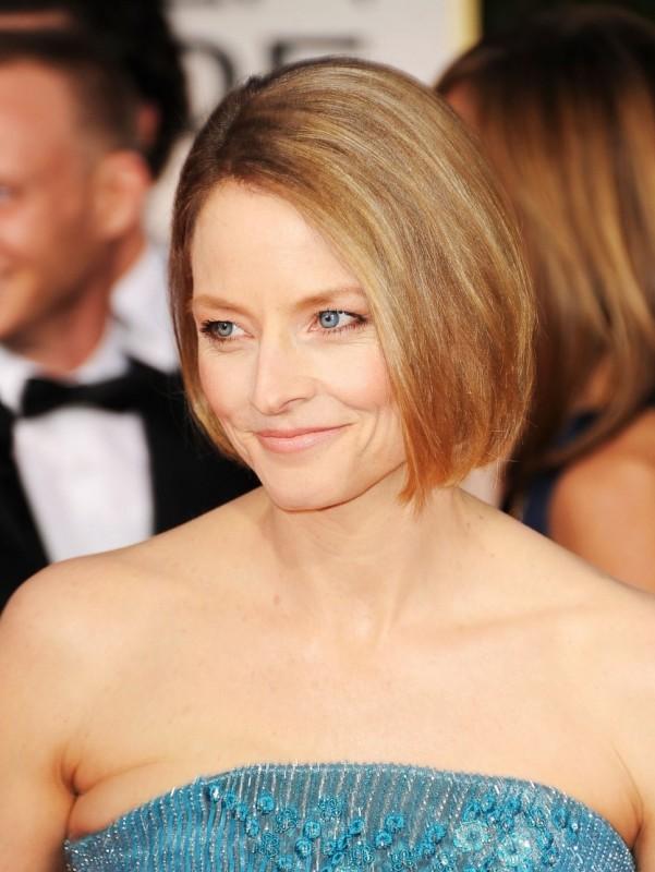 Jodie Foster posa sul red carpet dei Golden Globes 2012