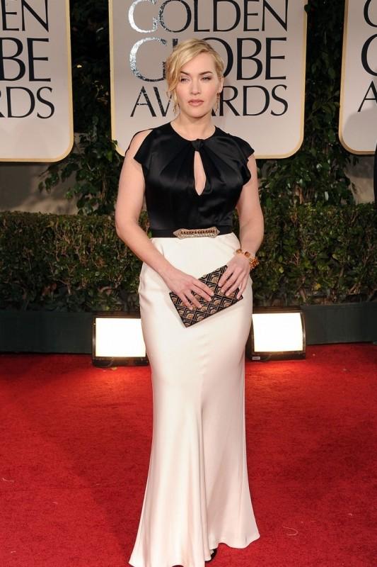Kate Winslet sul tappeto rosso dei Golden Globes 2012