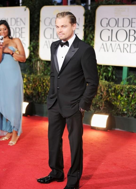 Leonardo DiCaprio, protagonista di J. Edgar, sul red carpet dei Golden Globes 2012