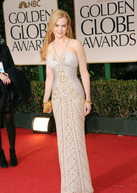 Nicole Kidman sul tappeto rosso dei Golden Globes 2012