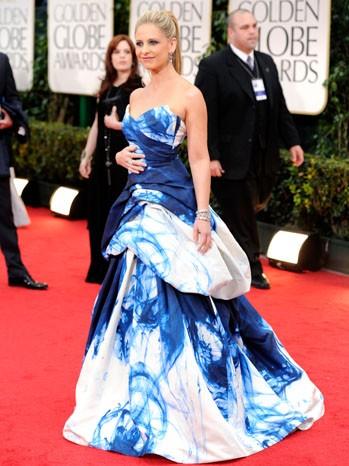 Sarah Michelle Gellar sul tappeto rosso dei Golden Globes 2012