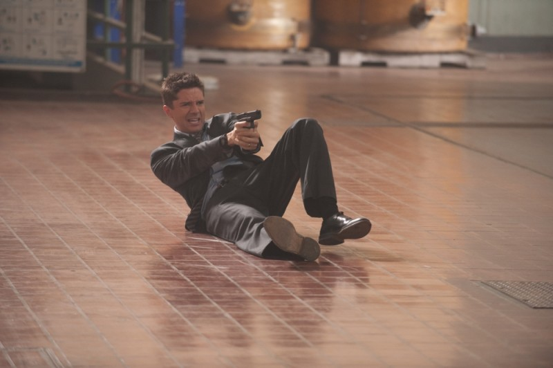 The Double: Topher Grace in una drammatica scena del film