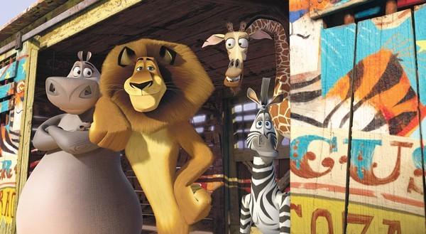 Foto di gruppo per gli animali protagonisti di Madagascar 3: ricercati in Europa