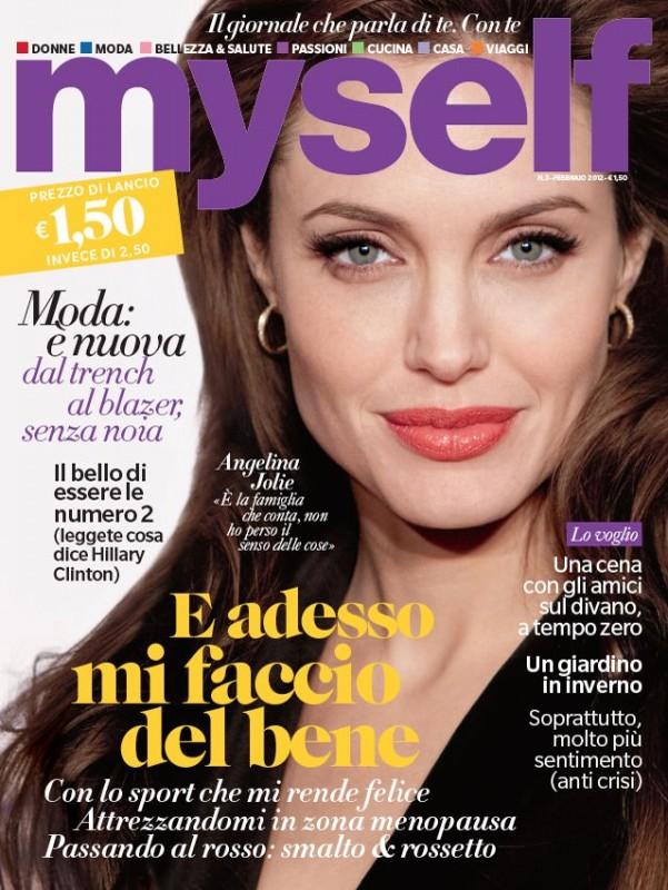 Angelina Jolie  in cover su Myself (gennaio 2012)