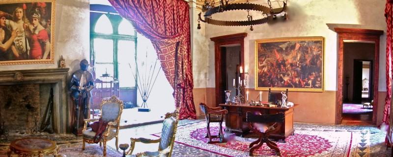 La figlia di Elisa ritorno a Rivombrosa - scenografia sala del capitano Loya realizzata da Giuseppe Pirrotta