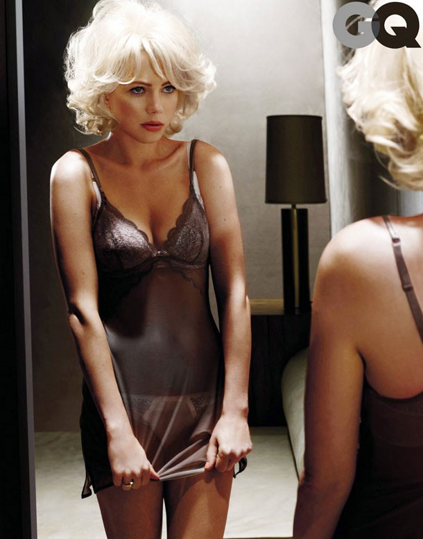 Michelle Williams sexy su GQ per promuovere 'My Week With Marilyn'