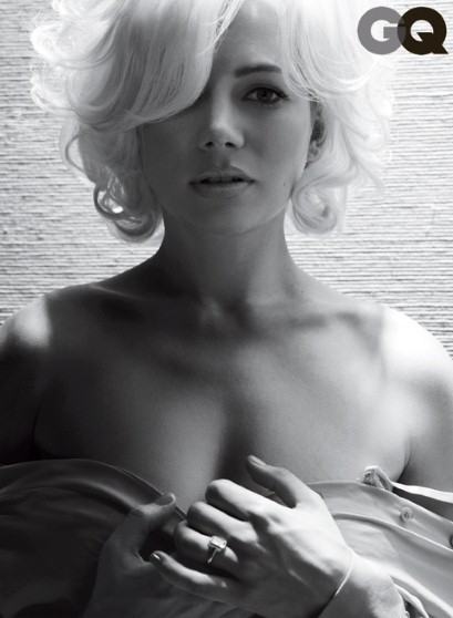Michelle Williams sul magazine GQ per promuovere 'My Week With Marilyn'