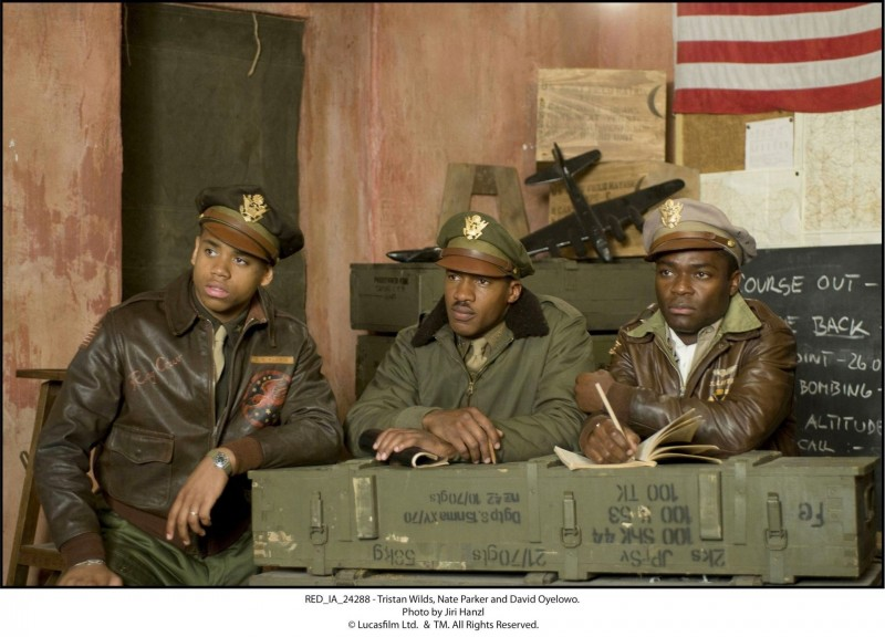 Red Tails: Tristan Wilds, Nate Parker e David Oyelowo in una scena