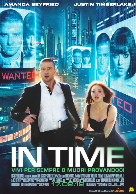 In Time: la locandina italiana del film