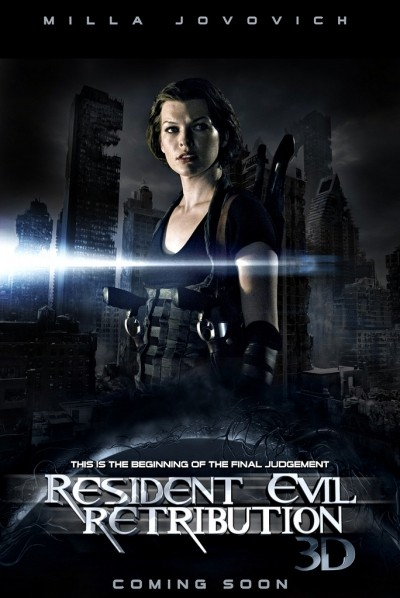 Resident Evil: Retribution, Milla Jovovich nel primo poster del film
