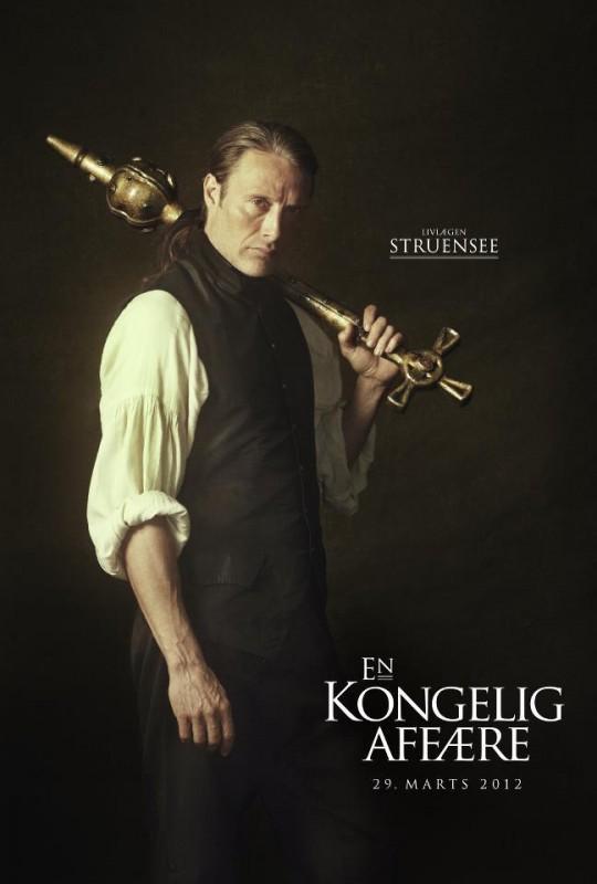 En Kongelig Affære: il character poster originale del film con Mads Mikkelsen