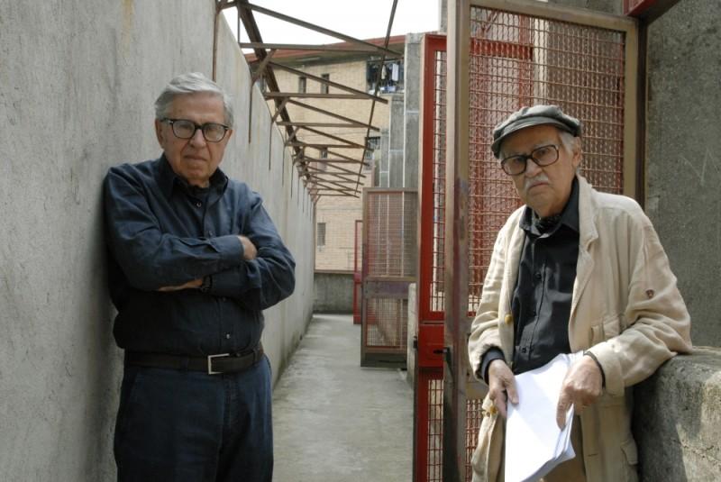 Cesare deve morire: i registi Vittorio Taviani e Paolo Taviani sul set del film