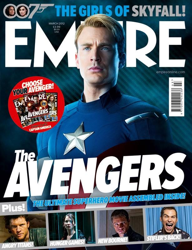 La copertina di Empire dedicata a Capitan America, alias Chris Evans