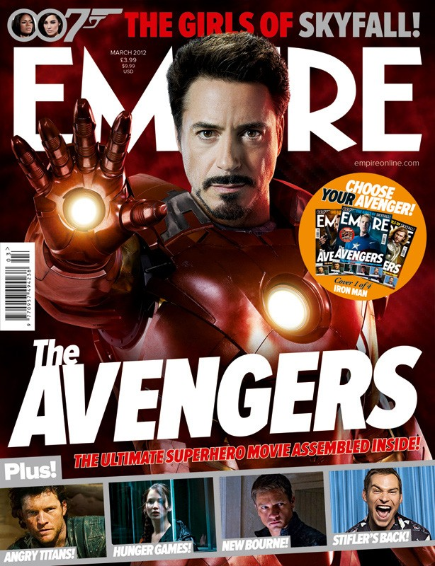 La copertina di Empire dedicata ad Iron Man, alias Robert Downey Jr.