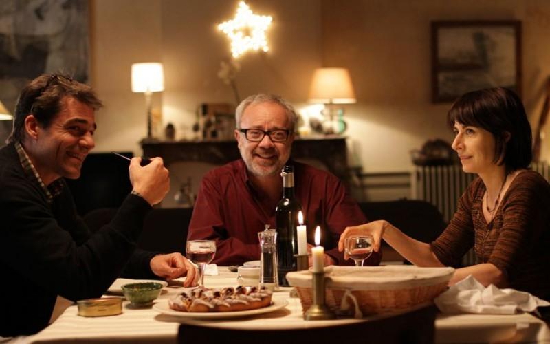 Thierry Neuvic in Les papas du dimanche con Marilyne Canto e Olivier Baroux
