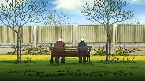 Arrugas (2012) una bella scena del film d'animazione