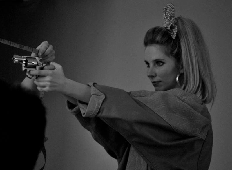 Sadie Pickering sul set della commedia Act of Godfrey