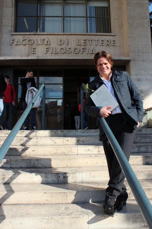 Barbato De Stefano nel giorno della laurea