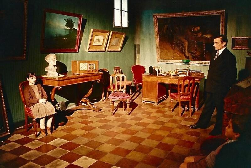Dichiarazioni d'amore - scenografia  di una stanza realizzata da G. Pirrotta