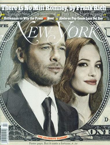 Angelina Jolie e Brad Pitt in cover sul New York Magazine nel 2012