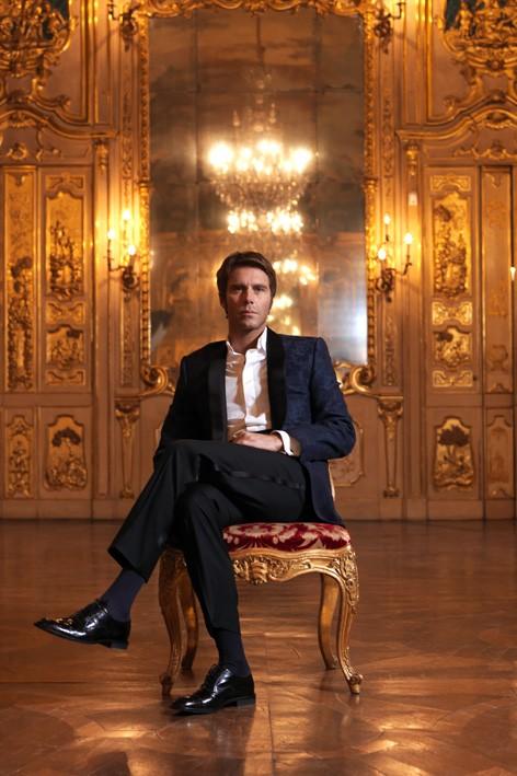 Emanuele Filiberto di Savoia in una immagine promo de Il principiante, show di Cielo del 2012