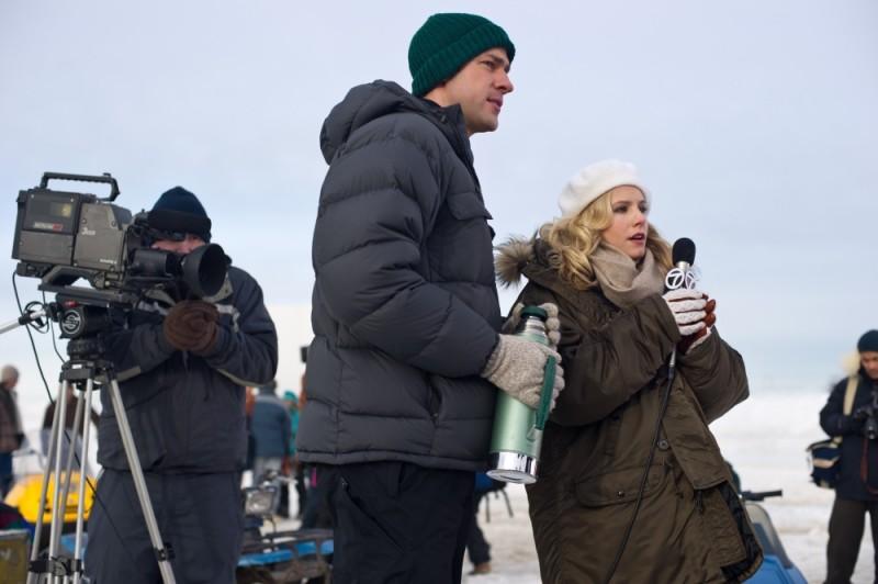 Kristen Bell sul set di Qualcosa di straordinario con John Krasinski