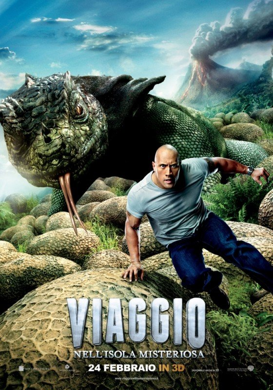 Viaggio nell'isola misteriosa: il character poster con The Rock