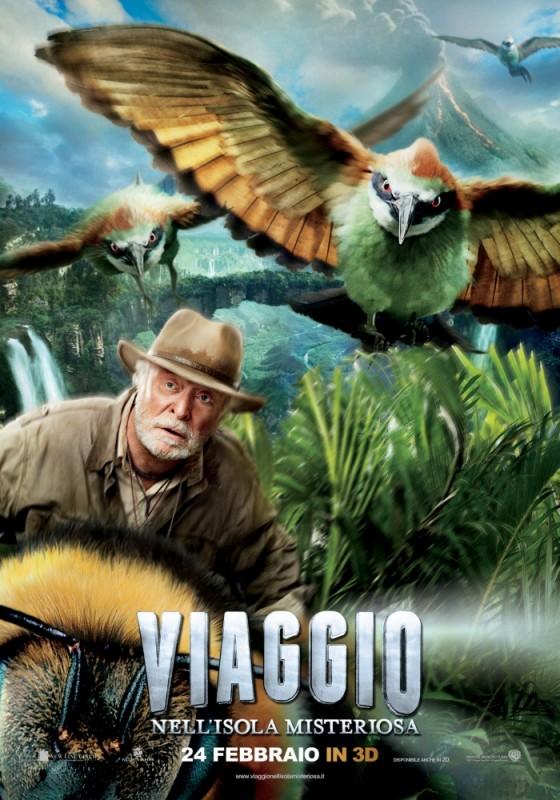 Viaggio nell'isola misteriosa: il character poster itailano con Michael Caine
