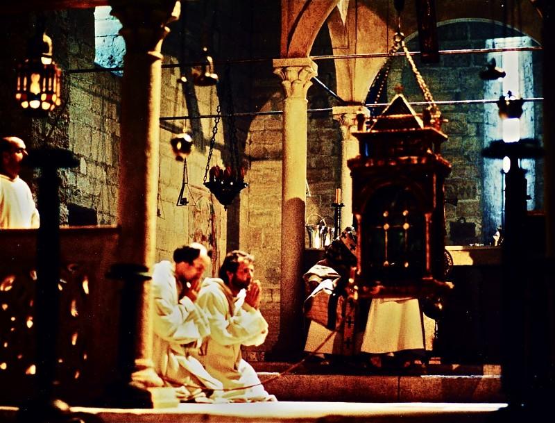 Film - Magnificat -  scenografia Chiesa della Visitazione (particolare) realizzata da G. Pirrotta