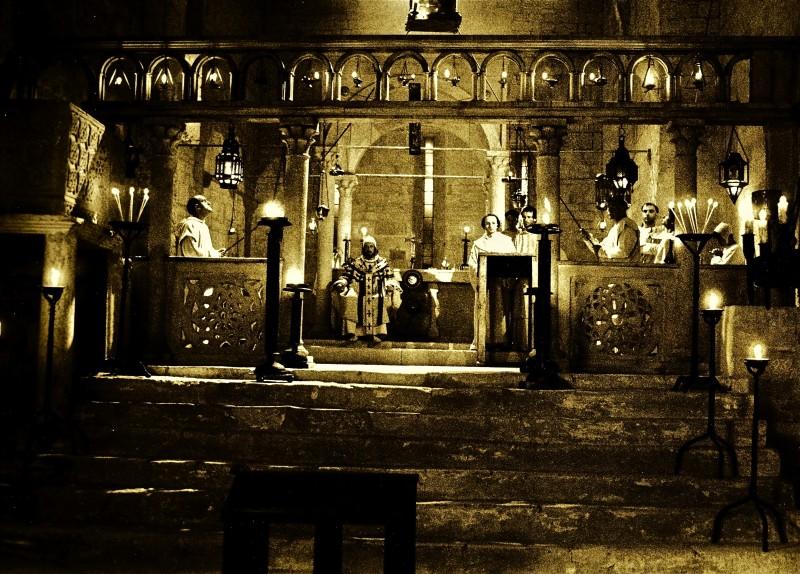 Film - Magnificat -  scenografia Chiesa della Visitazione realizzata da Giuseppe Pirrotta