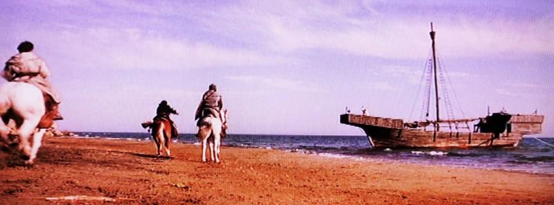 I Cavalieri che fecero l'impresa - la nave ancorata realizzata da G. Pirrotta