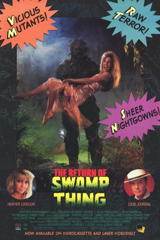 Il ritorno del mostro della palude: la locandina del film