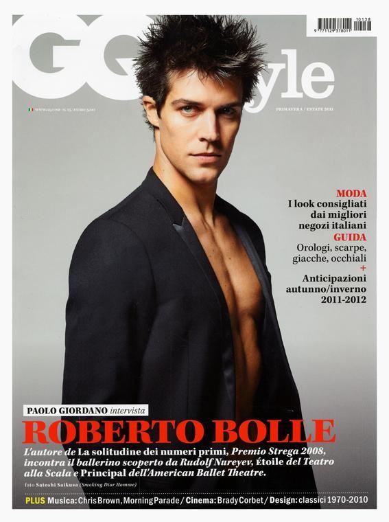 Roberto Bolle in cover su GQ