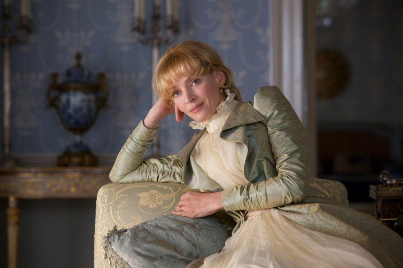 Uma Thurman in un'immagine tratta dal film Bel Ami