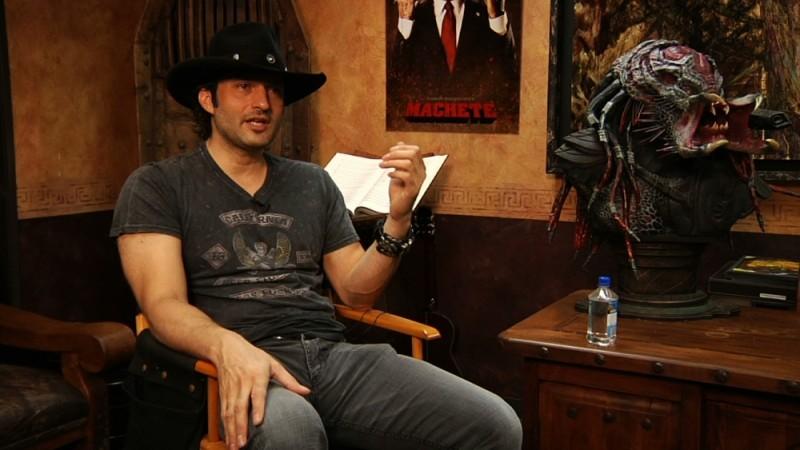 Il regista Robert Rodríguez in una scena del documentario Side by Side