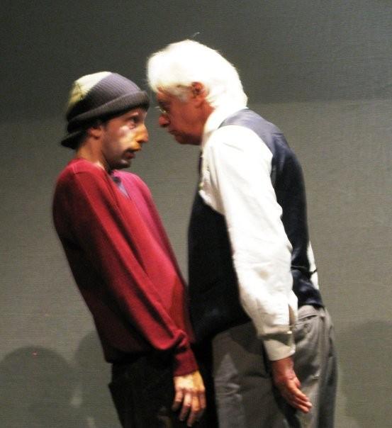 Mario Massaro a teatro con Franco Oppini in Cantico di un Natale qualunque