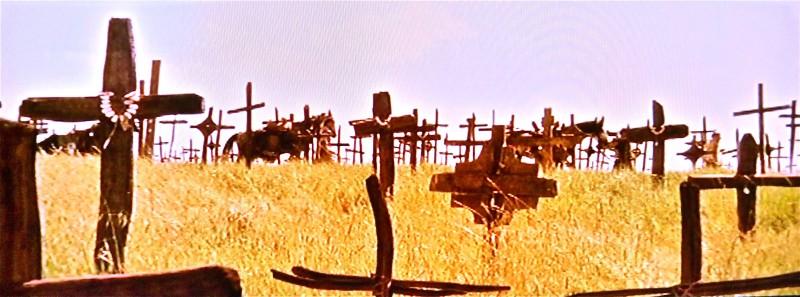 I Cavalieri che fecero l'impresa -   scenografia del campo delle croci realizzata da G.Pirrotta