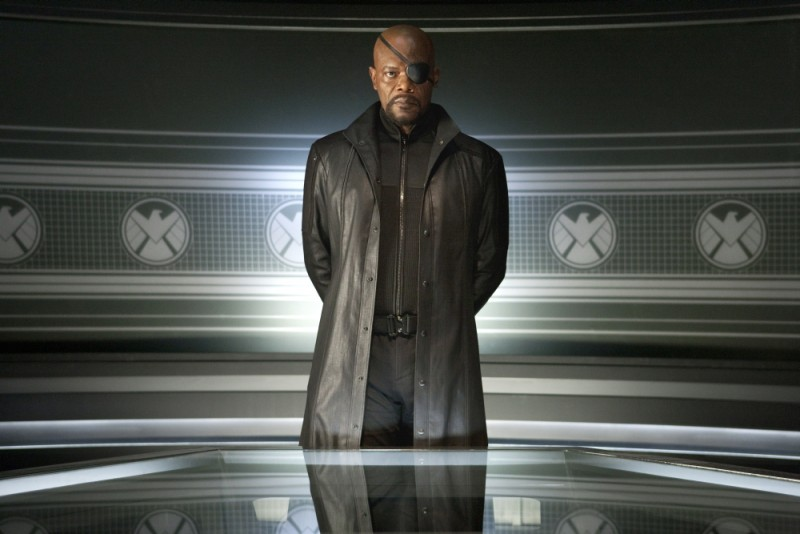 Samuel L. Jackson nei panni di Nick Fury in The Avengers
