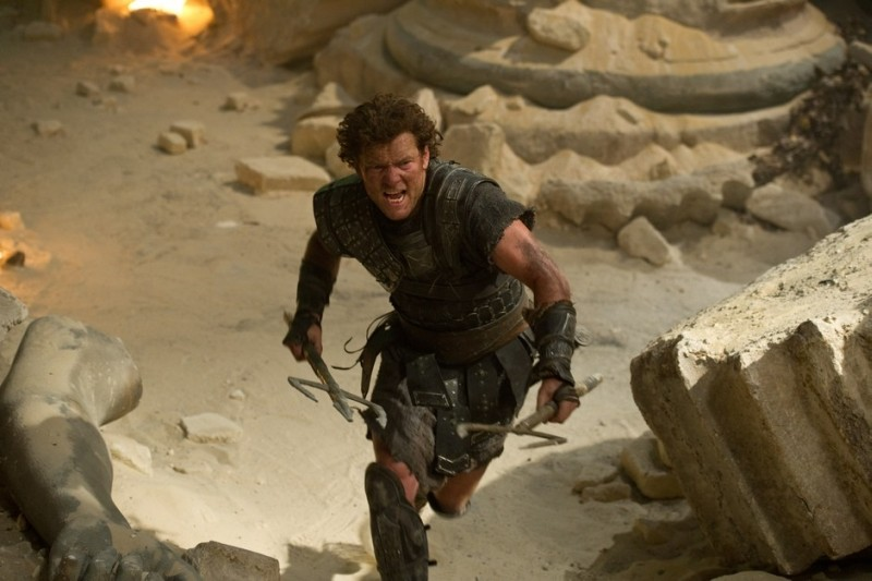 Wrath of the Titans: Sam Worthington nei panni di Perseo in una scena del film